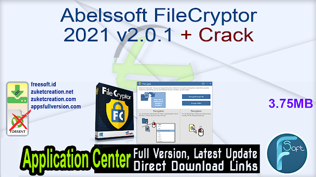 Abelssoft FileCryptor 2021 v2.0.1 + Crack