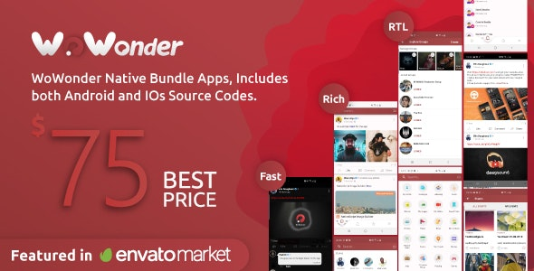WoWonder Timeline php script–Mobile Application for WoWonder