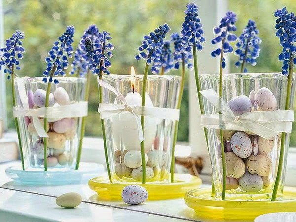 Spring flowers and Easter Eggs