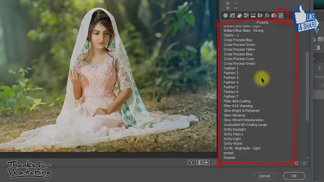 camera raw presets guideline screenshots