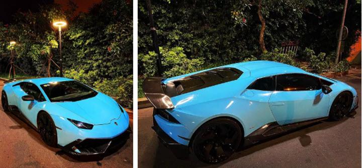 Lamborghini Huracan đổi màu nhiều nhất Việt Nam, cư dân mạng ví 'màu như khẩu trang y tế' - Ảnh 2.