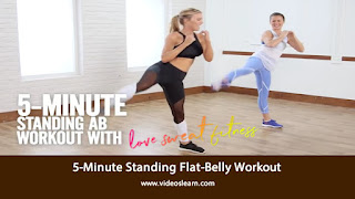 5-Minute Standing Flat-Belly Workout