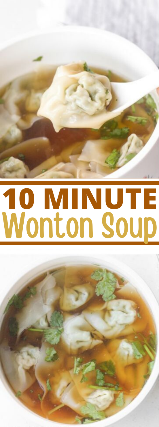 Easy 10-Minute Wonton Soup #easy #recipes #quick #soup #comfortfood