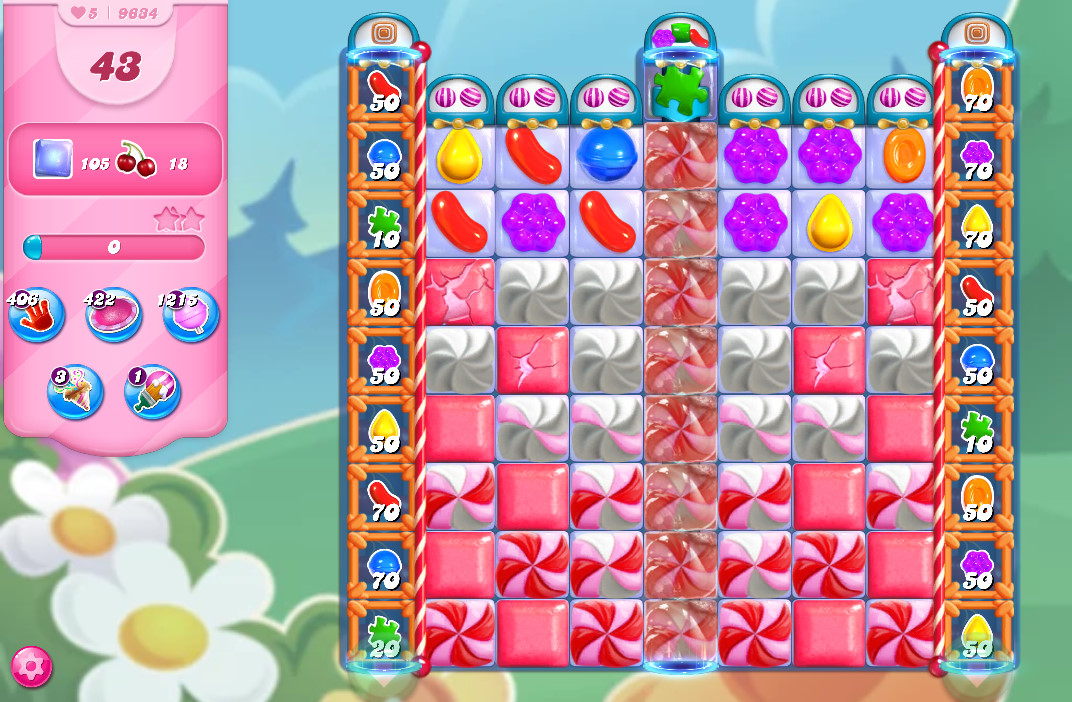 Candy Crush Saga level 9634
