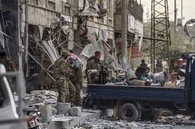Turkish-backed terrorist/rebels looting