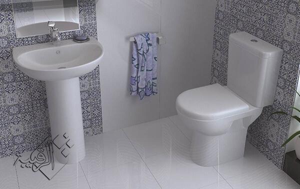 طقم حمام ليسيكو موديل كونكورد أبيض