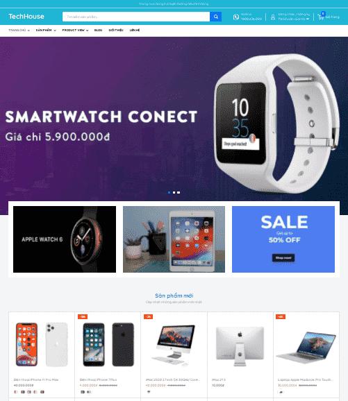 Giao diện blogspot bán hàng công nghệ tiếp thị Accesstrade