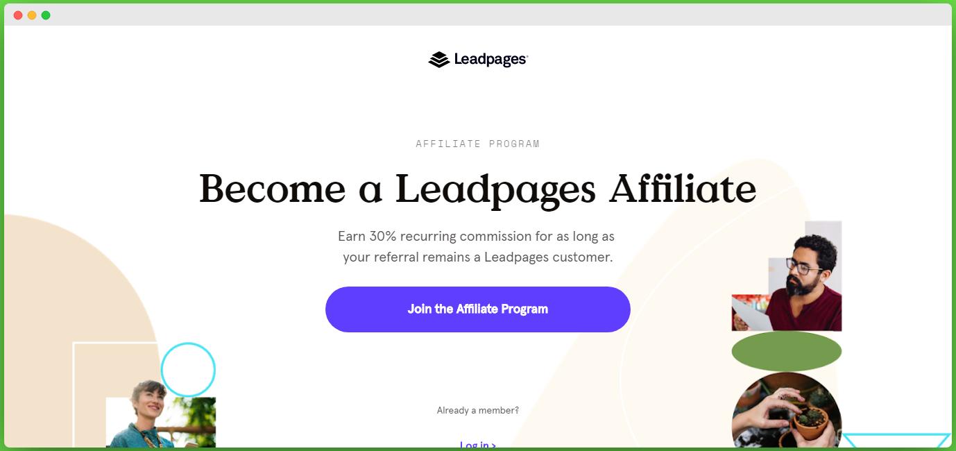 leadpage affiliate