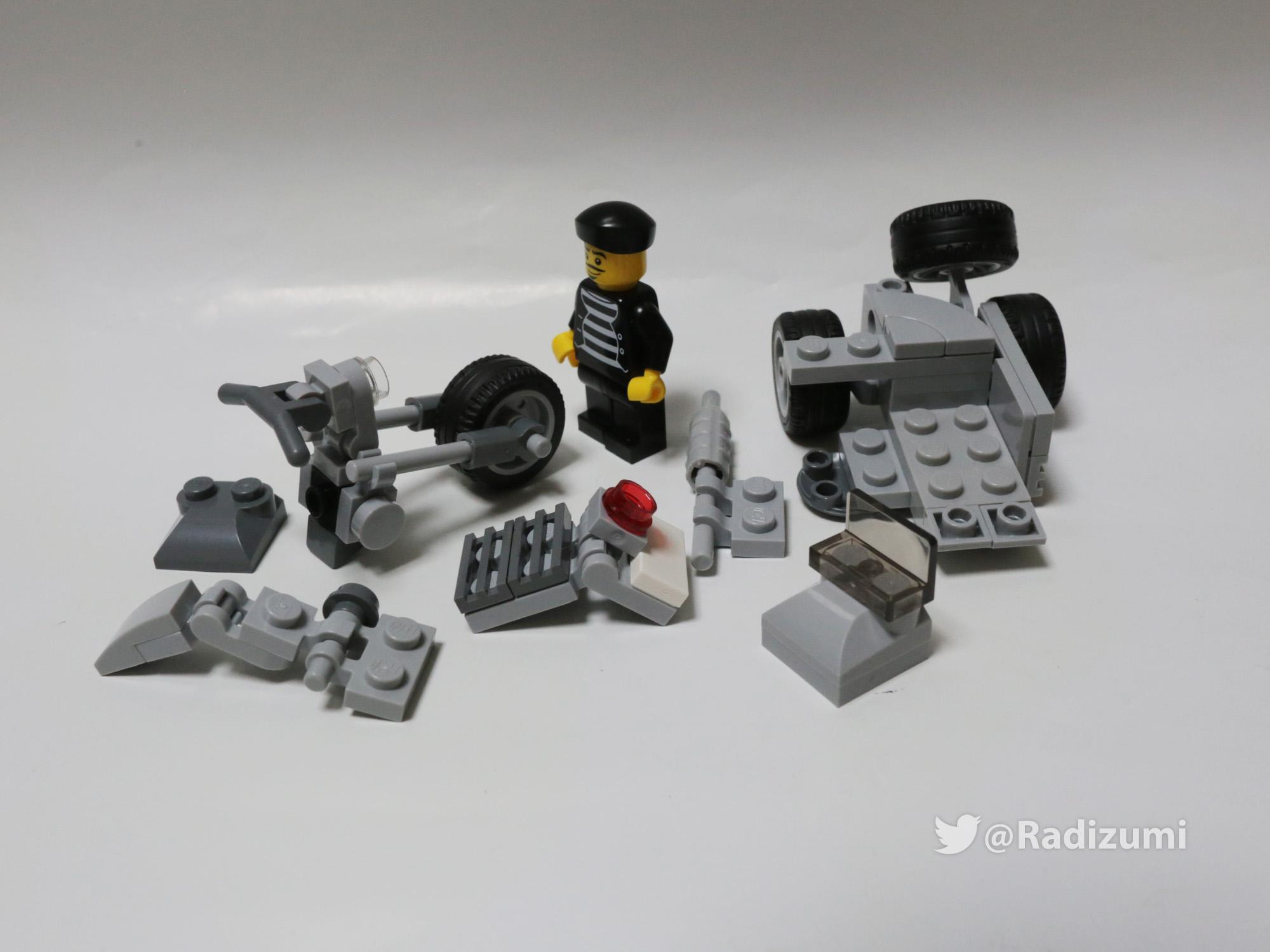 レゴでオリジナル作品!『フィグ乗りバイク』世界に一つだけのレゴ~ズミ(旧:ラジズミ)