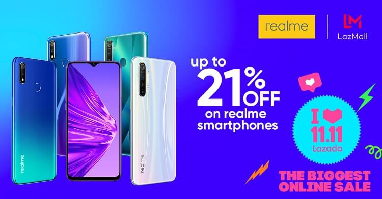 Realme Announces up to 21% Discount on Lazada's 11.11 Sale!