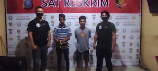 Dua Pelaku Curat Ditangkap Tekab Reskrim Polres Labuhanbatu
