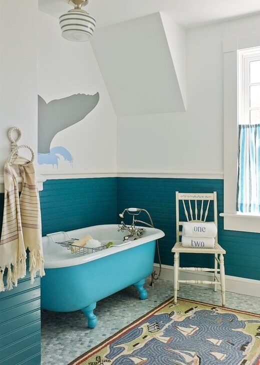 Blue Bathtub