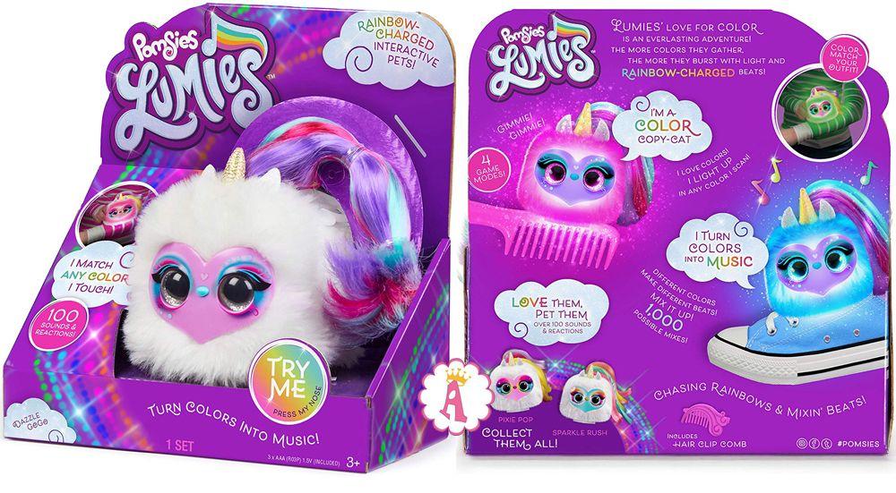 Pomsies Lumies музыкальные мягкие игрушки для детей