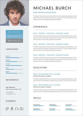 Template Resume Profesional Gratis Dalam Format DOC