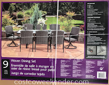 Sunvilla 9-piece Woven Dining Set Costco Weekender