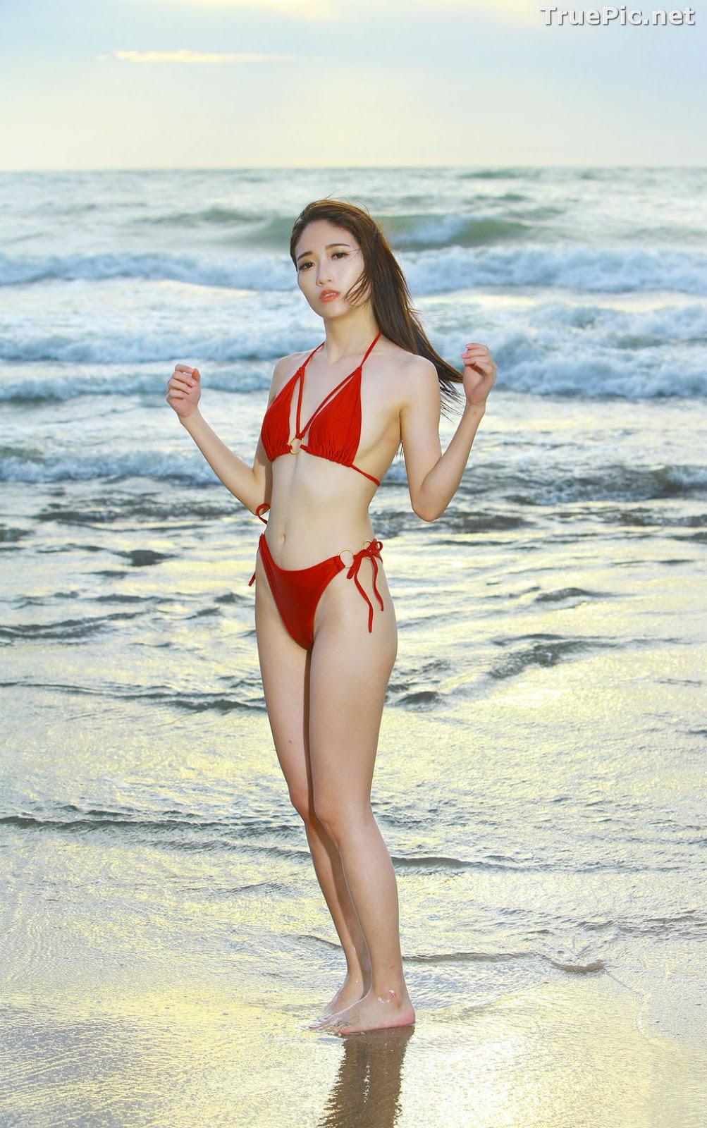 Image Taiwanese Model - Kuma - Beautiful Sexy Bikini Girl Under Sunset - TruePic.net - Picture-2