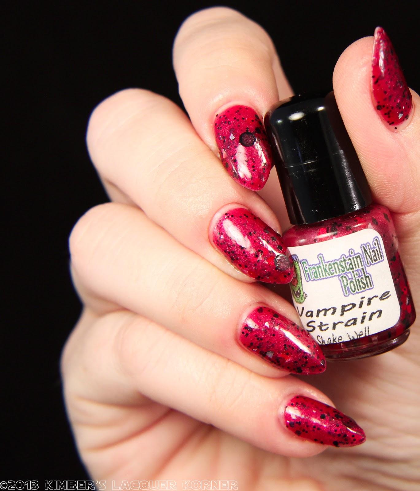 Vampire Nail Polish: Makeup HD: Frankenstain Nail Polish