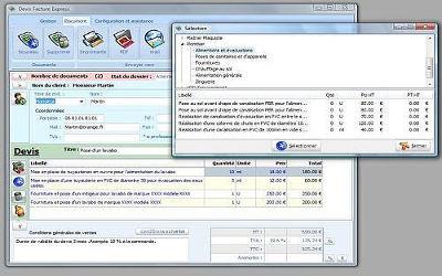 Devis Facture Express Lite - Logiciel de Facturation sur Windows