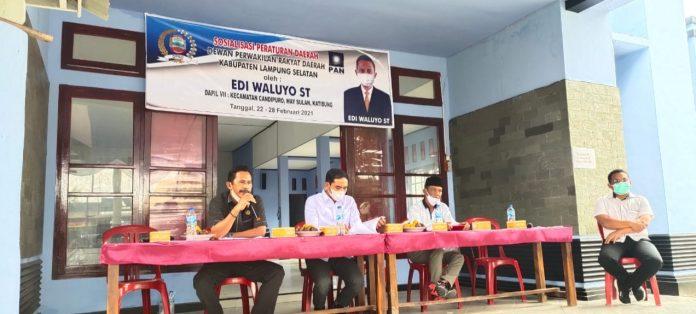 Edi Waluyo Sosper Perda BPD di Desa Titiwangi