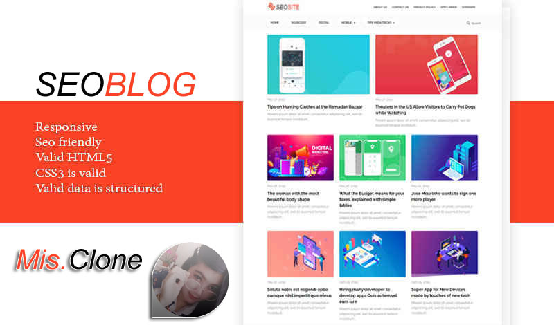 Seoblog Responsive Blogger Template