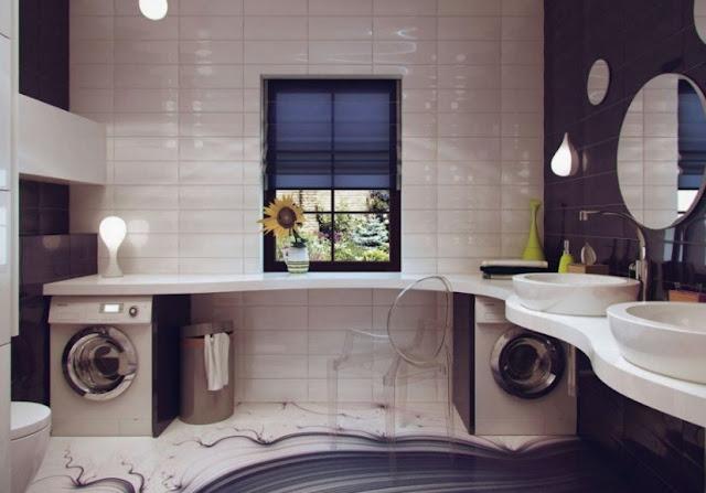 Futuristic Modern Small Bathroom Ideas