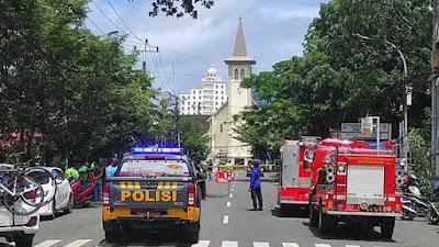Bom Bunuh Diri di Depan Gereja Katedral 14 Orang Korban