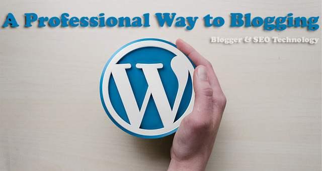 how to setup a professional blog