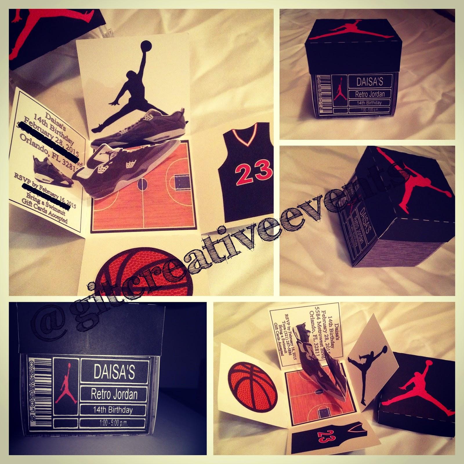 G I T Creative Event Planning Llc Retro Jordan Shoe Box