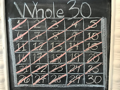 Picture of Whole30 Board with One Day Remaining