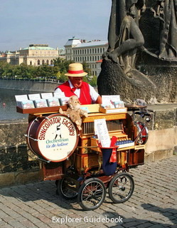 Charles Bridge musician