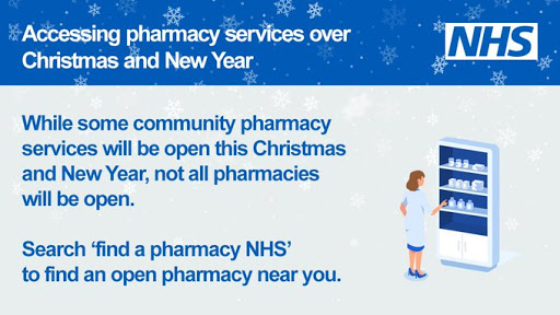 How to access a pharmacy over Christmas search Pharmacy NHS