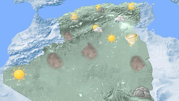 توقعات الطقس:  أمطار مرتقبة ليوم غد الإثنين 23 مارس2020