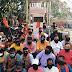 विधानसभा घेराव में हुई लाठीचार्ज को लेकर भाजपा ने किया मुंह में काला पट्टी लगाकर विरोध
