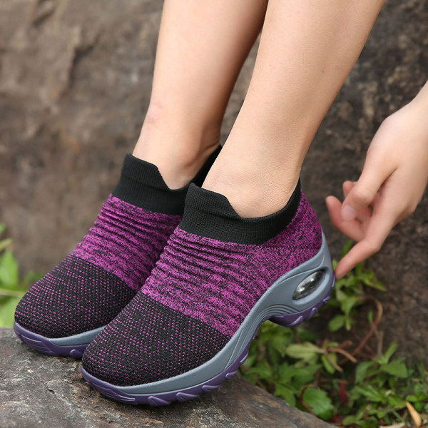 Women's heightened air cushion sneaker - Purple