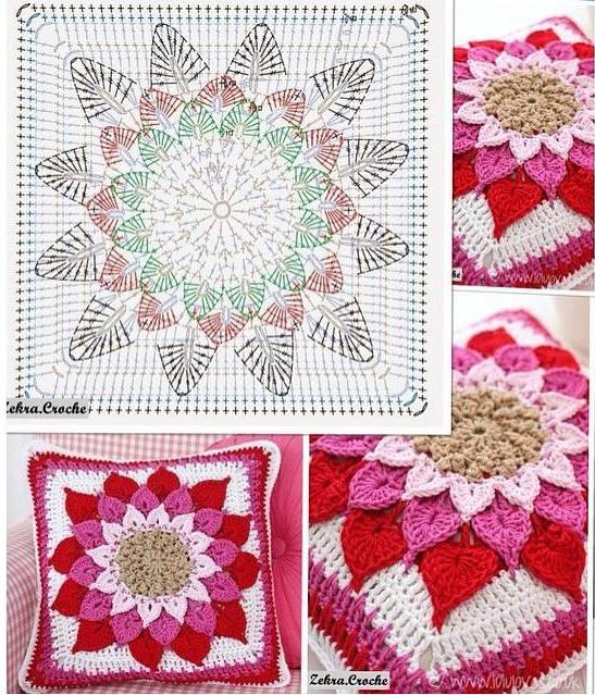 Increíble Patrón Cojín Crochet Patrón - Ideas de Patrones de Costura ...