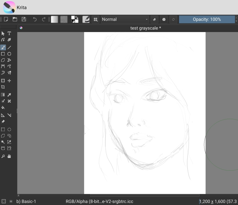 Sketching di Krita Android