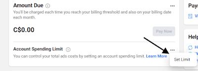 إنفاق حسابك Facebook Ads Manager