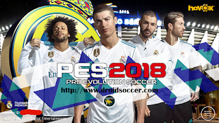 PES Mobile 2018 Mod Real Madrid v3.8 Apk + Obb
