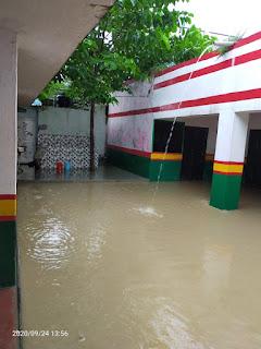 जरा सी बारिश में भी भर जाता है यह विद्यालय, शिकायत के बाद भी नहीं हो पा रही कार्रवाई | #NayaSaberaNetwork