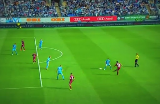 Rubin Kazan player Roman Eremenko shoots from long range to score against Zenit St Petersburg