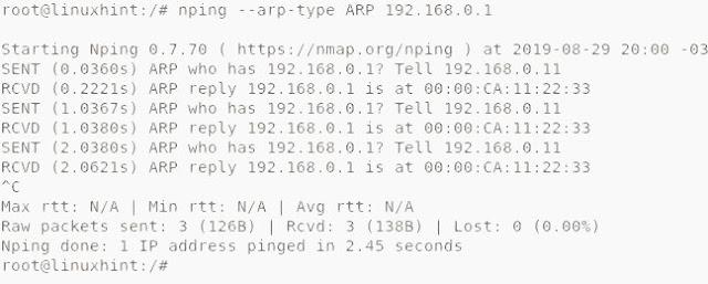 Nmap ARP scan