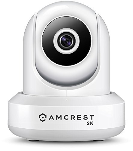 Amcrest UltraHD 2K WiFi Video Security IP Camera w/Pan/Tilt, Dual Band 5ghz/2.4ghz, Two-Way Audio, 3-Megapixel @ 20FPS, Wide 90° Viewing Angle & Night Vision IP3M-941W (White) (Renewed
