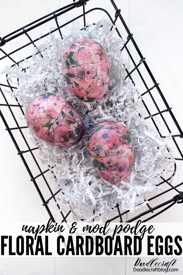 These cute floral eggs are the perfect craft for Easter. They are easy to make and look chic for home decor or an epic egg hunt. Fill them with goodies, small toys or even love notes and display them in a cute basket.     These darling eggs are the perfect adult version of painting eggs!