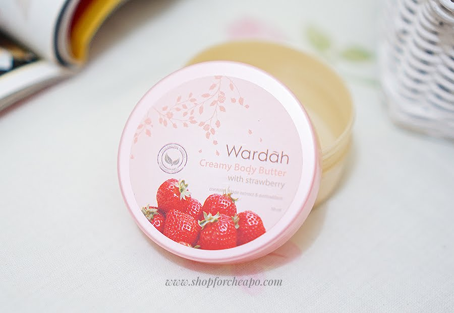 wardah creamy body butter strawberry
