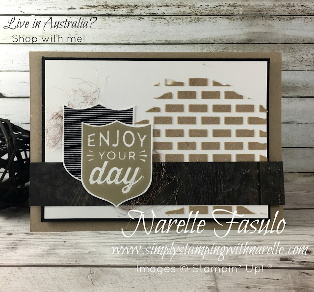 Badges & Banners Stamp Set PLUS Embossing Paste - An easy card for all the males in your life - Simply Stamping with Narelle - Buy all the products you need to create this card in my online shop here - https://www3.stampinup.com/ecweb/default.aspx?dbwsdemoid=4008228