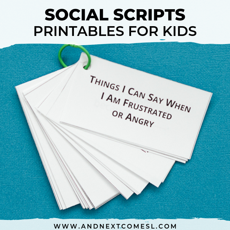 Scripting And Social Narratives Autism Halloween 2020 Printable Social Scripts for Kids | And Next Comes L   Hyperlexia