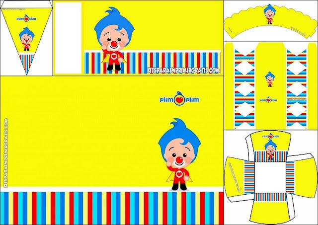 Plim Plim: Mini Kit para Imprimir Gratis.