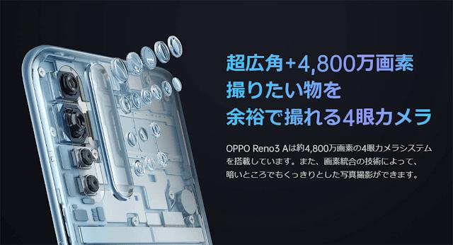 ワイモバイル、OPPO Reno3 Aが最安4980円の特価販売を期間限定でオンラインストアで実施!