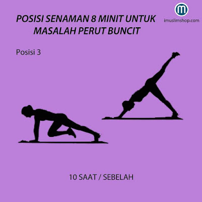 Senaman mencantikkan bahagian punggung, Squats, Reverse Lunges, Race Block, Jumping Jack Touch Heels, Kick Back, dan Flatters Jump & Squats, fitness, senaman, workout