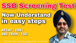 Screening Test in SSB for AFCAT, CDS, SSC TECH and TGC